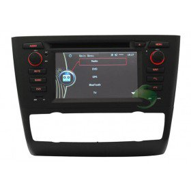 Auto DVD Player GPS Navigationssystem für BMW E81 1 Series(2004 2005 2006 2007 2008 2009 2010 2011 2012)Tür Hecktürmodell(automatische Klimaanlage und Sitzheizung)