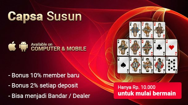 Permainan Judi Capsa Susun Online Smartphone