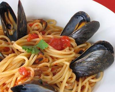 Spaghetti aux moules facile