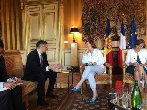 Les ministres des Affaires étrangères de la France et d'Andorre ont discuté de la question de l'amélioration des routes reliant les deux pays | ALL ANDORRA
