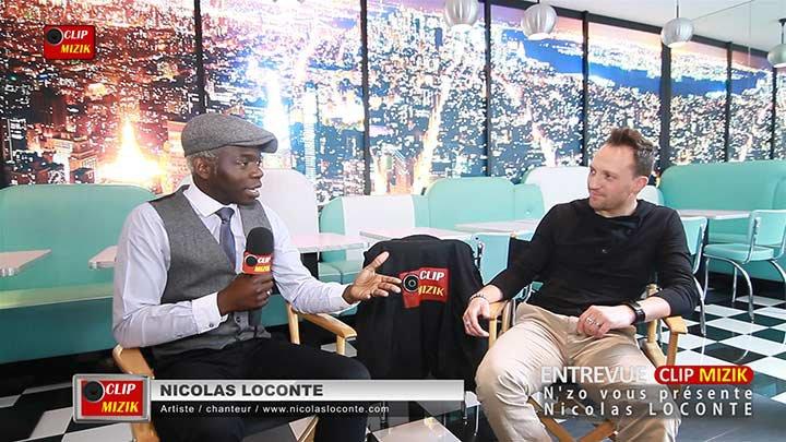 Interview de Nicolas Loconte dans l'émission Entrevue Clip Mizik animée et présentée par N'zo