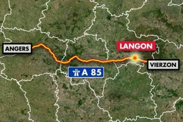 Accident de car sur l'A85 : 2 morts