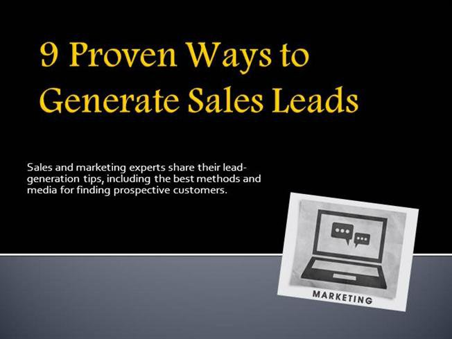 Effective Techniques to Generate Sales Leads