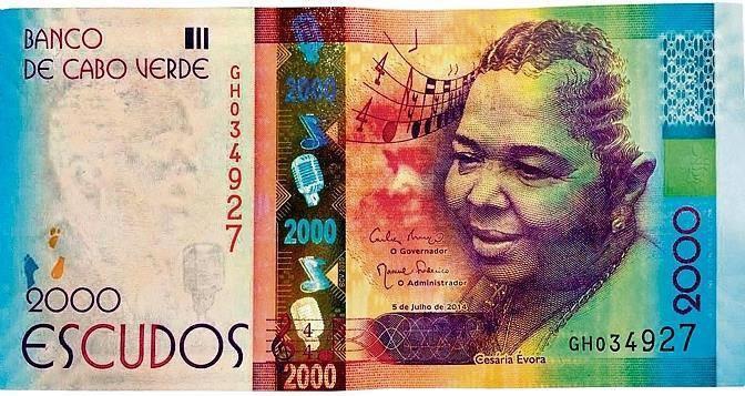 Le Cap-Vert honore la mémoire de Cesária Évora, en émettant un nouveau billet de 2000 escudos !