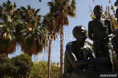 """""""Monument à Hippocrate dans le port de Kos (Dodécanèse-Grèce)"""" photo libre de droits sur la banque d'images Fotolia.com - Image 206183929"""