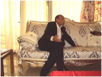 EN MARGE DU XIVEME SOMMET DE LA FRANCOPHONIE A KINSHASA : Moncef Marzouki : ' la Francophonie est un moyen de créer la solidarité '