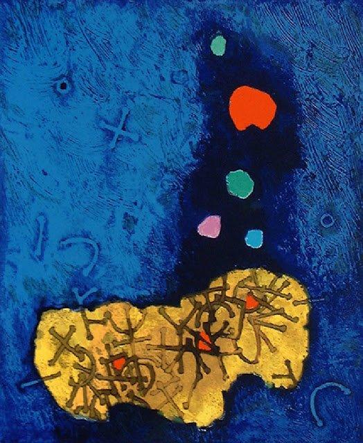 Exposition Art Blog: Mordecai Ardon - Mystery Landscape Painting