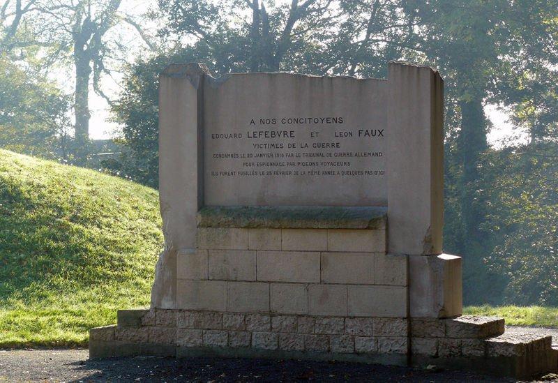 LEFEBVRE Edouard et FAUX Léon - Les civils du Valenciennois dans la Grande Guerre 1914-1918