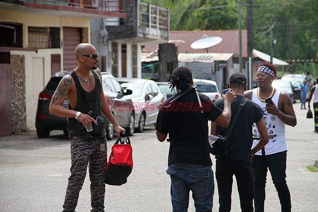 Born2nag featuring Shizu en tournage - Musique en Guyane