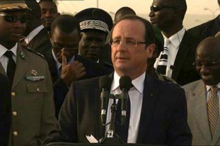 Discours avec le Président de la République du Mali depuis la place de l'indépendance à Bamako, Mali