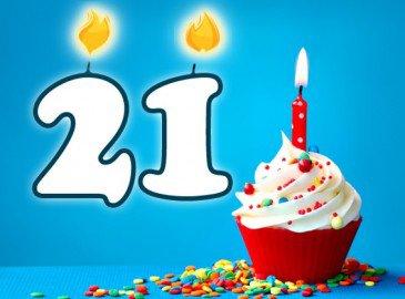 Anniversaire 21 ans | Bon personnalisé valable 12 mois !