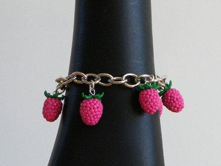 Bracelet framboise en fimo : Bracelet par jl-bijoux-creation