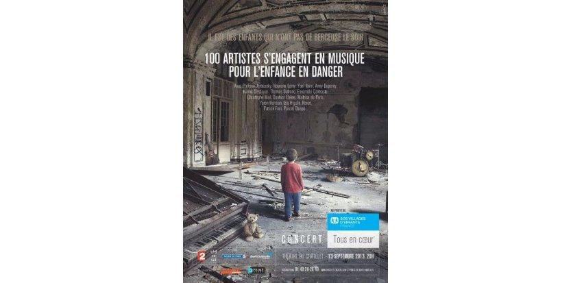 13/09/2013 : 100 artistes s'engagent contre l'enfance en danger