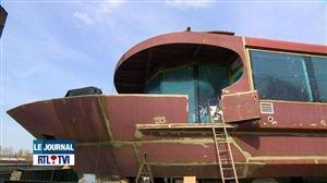 Construction d'un bateau-mouche exceptionnel à Liège - Vidéo - RTL Vidéos