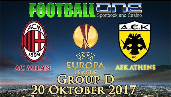 Prediksi AC MILAN vs AEK ATHENS 20 Oktober 2017