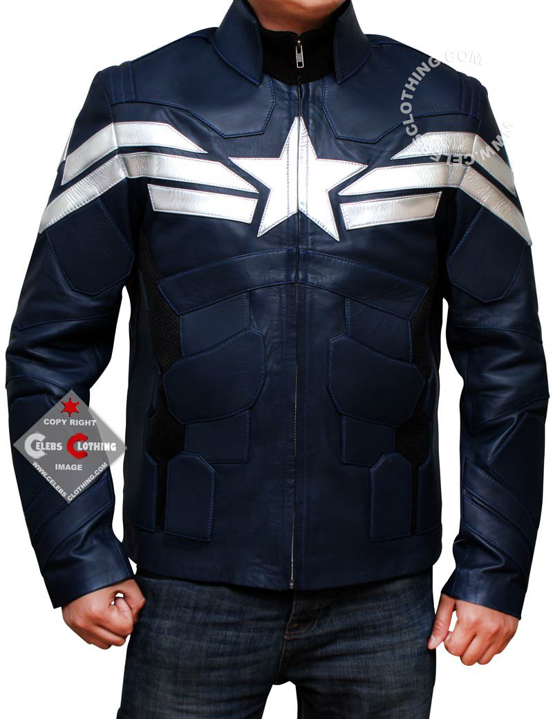 Silver Star Blue Leather Jacket