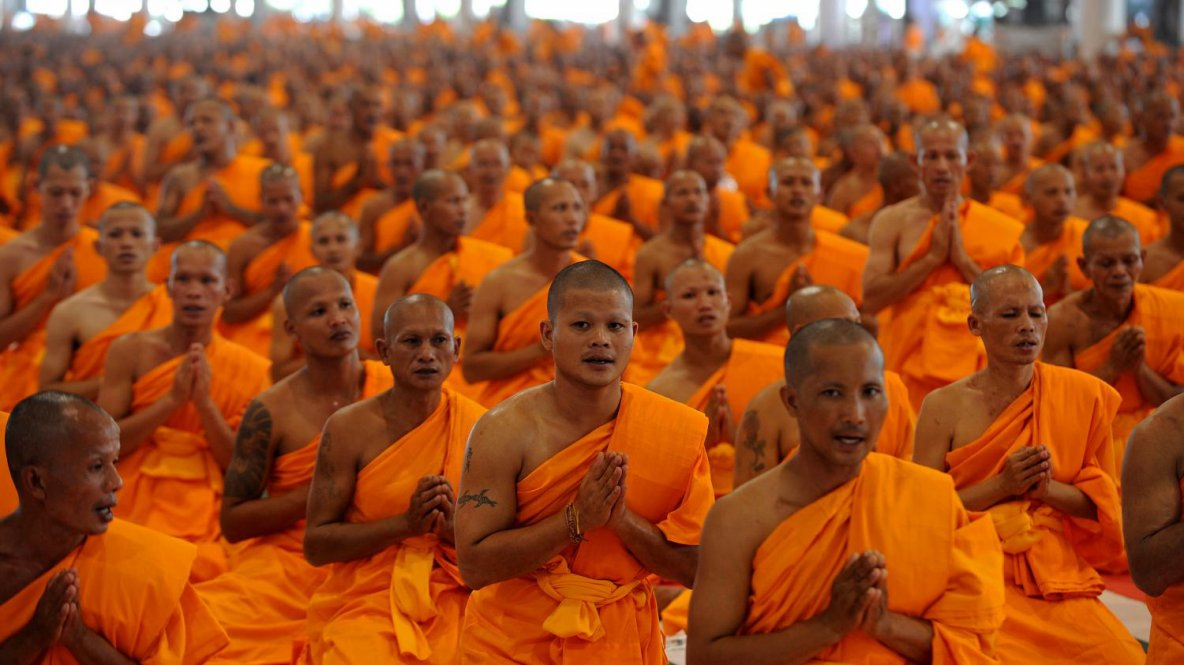 « L'homme qui s'attache à cueillir les plaisirs comme des fleurs, est saisi par la mort qui l'emportera comme un torrent débordé emporte un village endormi.  » de Bouddha Extrait du Dhammapada