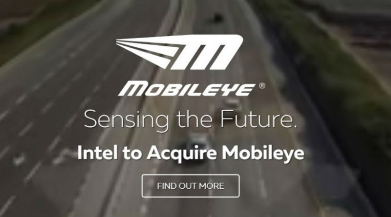 Intel agreed to buy Mobileye for $14.7 billion