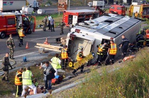 Accident d'un car polonais à Mulhouse: deux morts, 13 blessés graves - France - Actualités sur orange.fr