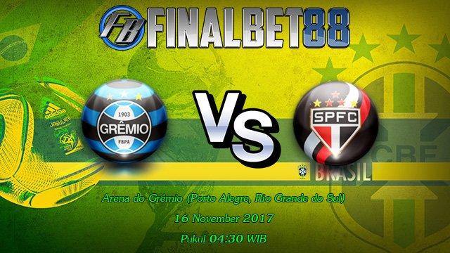 Prediksi Gremio vs Sao Paulo 16 November 2017