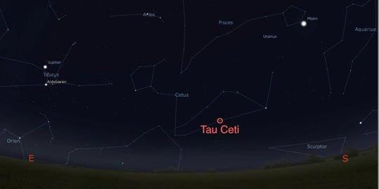 L'étoile Tau Ceti abrite au moins une planète habitable