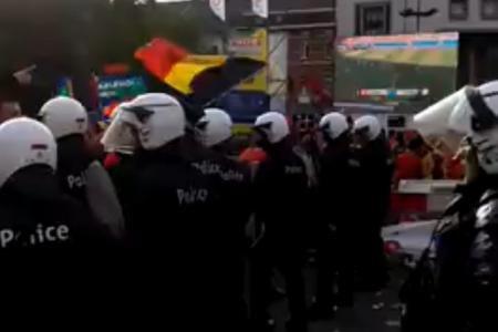 Charleroi: la police intervient pour séparer les supporters belges et algériens (vidéo)