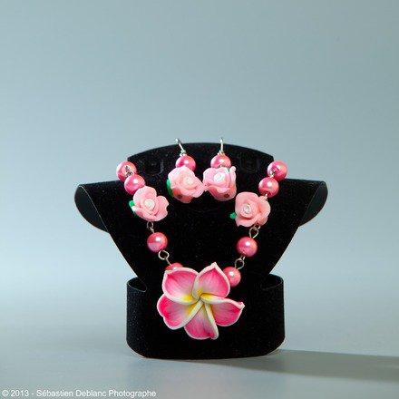 Parure 2 pièces fleurs : Parure par jl-bijoux-creation