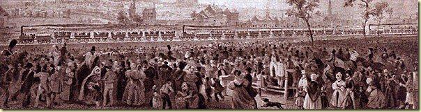 Les premiers trains belges en 1835