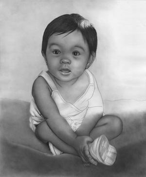 Drawing: Portrait of Baby – Pencil Drawing
