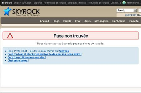 Skyrock censure Overblog