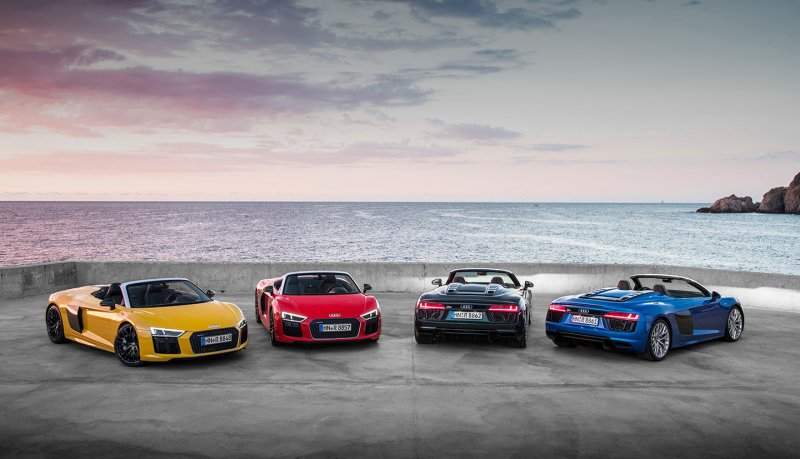 The 2017 Audi R8 Spyder costs $175,100