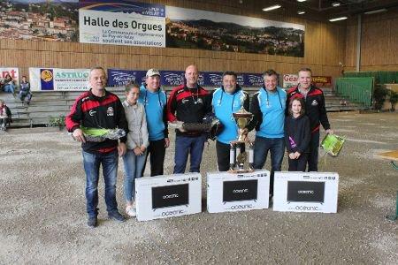 Pétanque - La triplette Quintais - Suchaud - Usaï remporte le 2e National du Puy