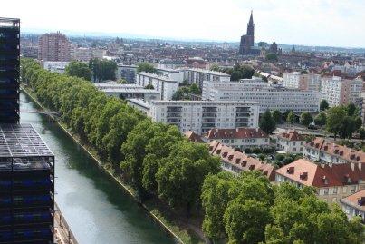 Strasbourg | Strasbourg du haut de la tour Elithis (60 mètres)
