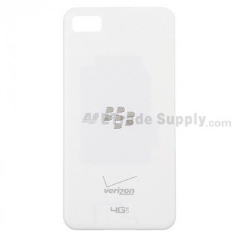 BlackBerry Z10 Battery Door - White, With Verizon Logo