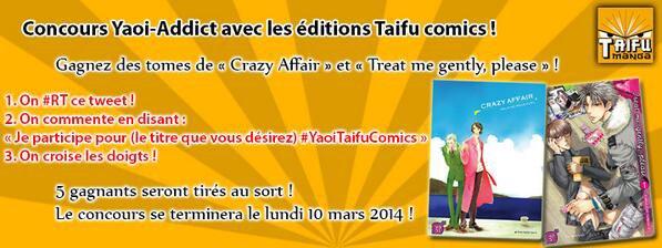 Twitter / TaifuComics : Le concours #Yaoi Addict est ...