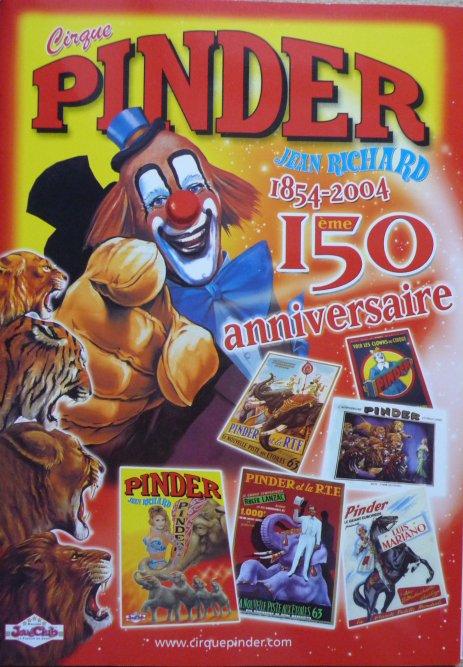 A vendre / On sale / Zu verkaufen / En venta / для продажи :  Programme Cirque PINDER JEAN RICHARD 2004 1ère ed.