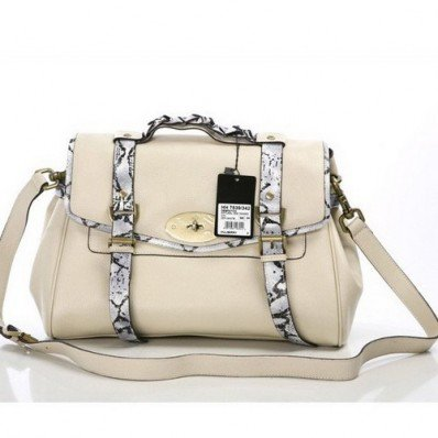 Gorgeous Mulberry Alexa Bag with Snake Strap Nude At Low Price