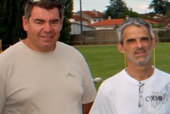 Patrice Costes et Christian Besset, managers d'Albi RL - La Dépêche