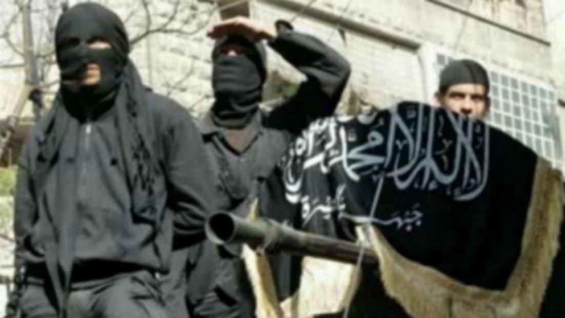 Exécution de Nehad Al Hussein, Ihsan Al Shuwaikh, Ahmed Ahawakh, Osama Abu Kuwait, joueurs de l'équipe de football Al-Shabab SC de Raqqa,