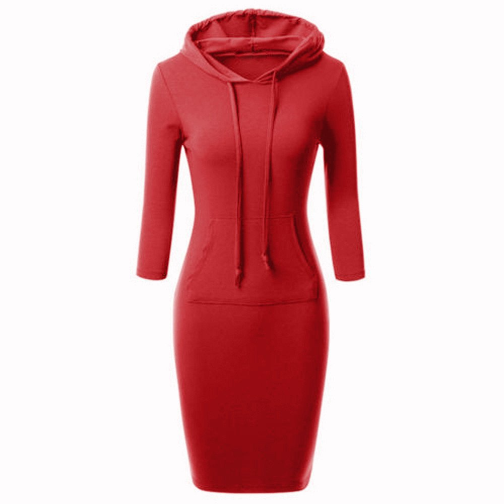 Fashion Women's Dress Casual Long Sleeve Hoodie Hooded Jumper – Express Delivry