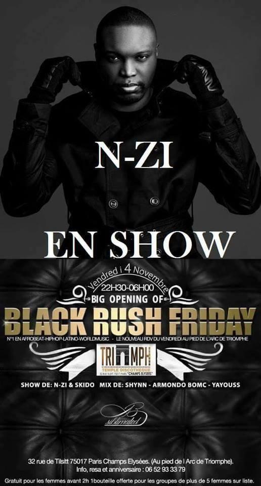 NZI en showcase au Triumph Discothèque le vendredi 04 Novembre – L'univers du showbiz africain et de vos célébrités ! www.99mve.com