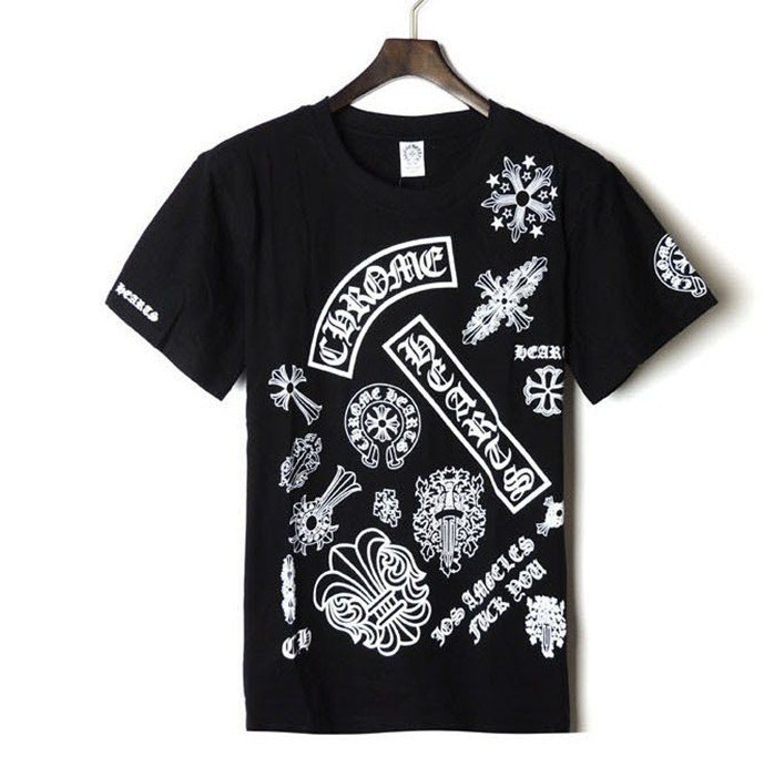 Chrome Hearts classic pattern Short Sleeves T Shirt|2014 CH NEW SHORT-SLEEVED T-SH : Chrome Hearts