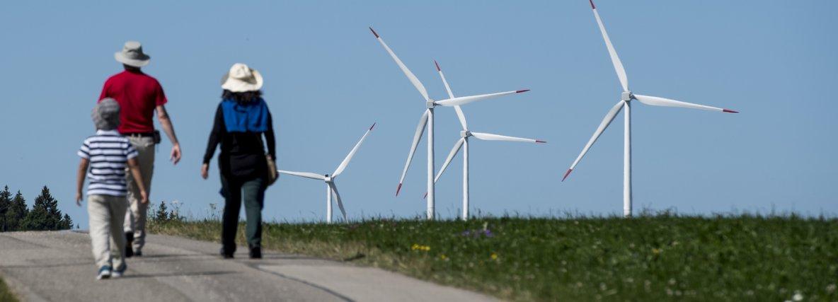 Les éoliennes, une histoire d'amour-haine - Le Temps