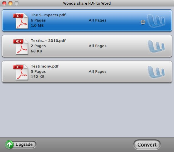 How-to - How to convert PDF to Word on Mac with Wondershare PDF to Word for Mac