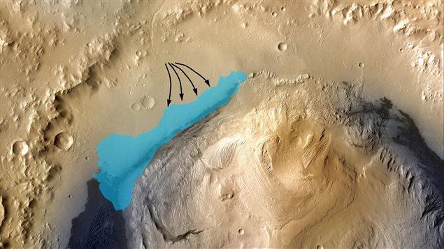 Pour la première fois, la sonde Curiosity a détecté des preuves directes de l'existence de ce qui fut autrefois un lac d'eau douce sur Mars.
