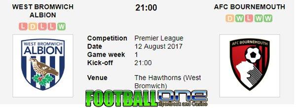 Prediksi WEST BROMWICH ALBION vs BOURNEMOUTH 12 Agustus 2017