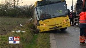 Une fillette blessée dans un accident de bus scolaire - Vidéo - RTL Vidéos