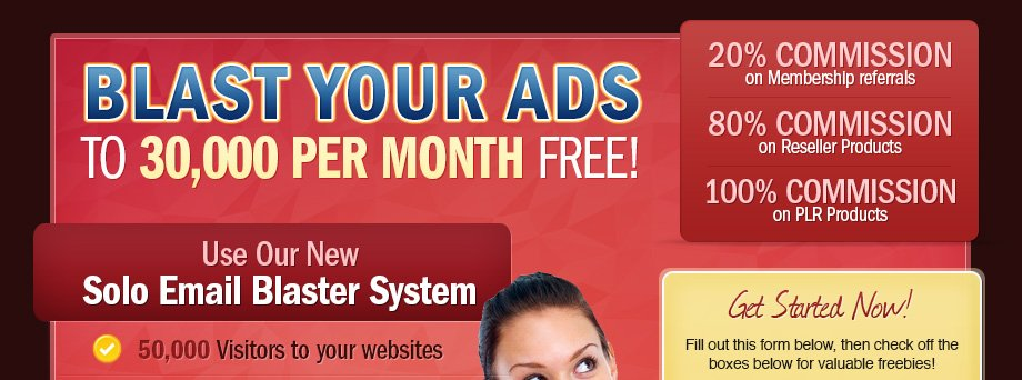 Worldprofit's Solo Email Blaster - Free Advertising Using Our Safelisting System