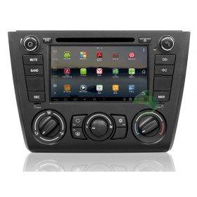 Android 4.0 Auto DVD Player GPS Navigationssystem für BMW 1 Series 120i E87(2004 2005 2006 2007 2008 2009 2010 2011 2012) 5 Türen Fließheck (manuelle Klimaanlage+beizbarer Sitz)