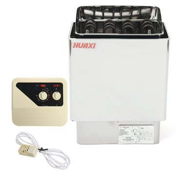 Wet & Dry Sauna Heater Spa Stove Detoxifying Antiaging Stainless Steel Internal Control HouseHold